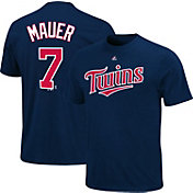 Majestic Youth Minnesota Twins Joe Mauer #7 Navy T-Shirt