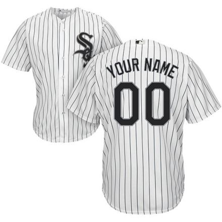 f842796c7 Majestic Youth Custom Cool Base Replica Chicago White Sox Home White Jersey
