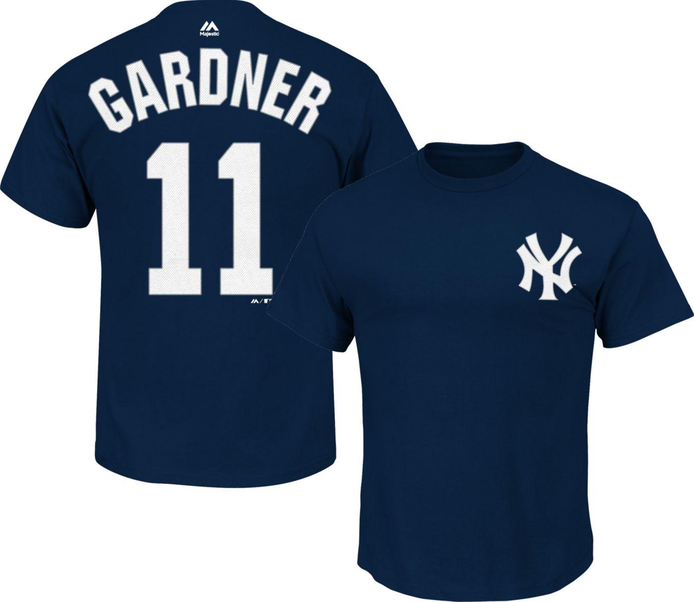 Majestic Youth New York Yankees Brett Gardner #11 Navy T-Shirt