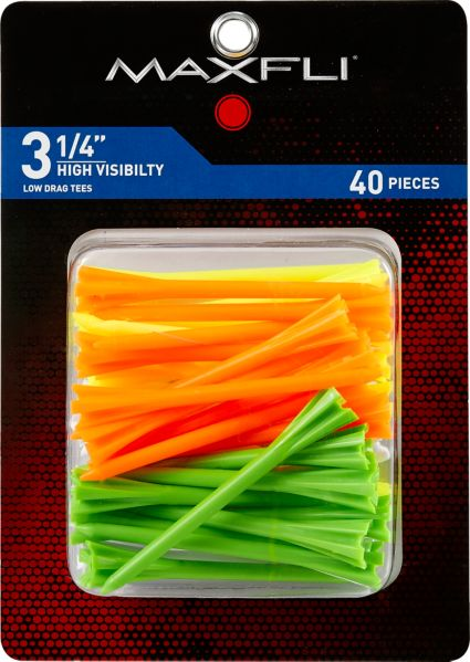 "Maxfli Pronged 3 1/4"" High Visibility Tees - 40 Pack"