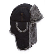 Mad Bomber Men's Black Supplex Faux Fur Bomber Hat