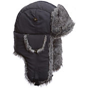 Mad Bomber Men's Grey Supplex Faux Fur Bomber Hat