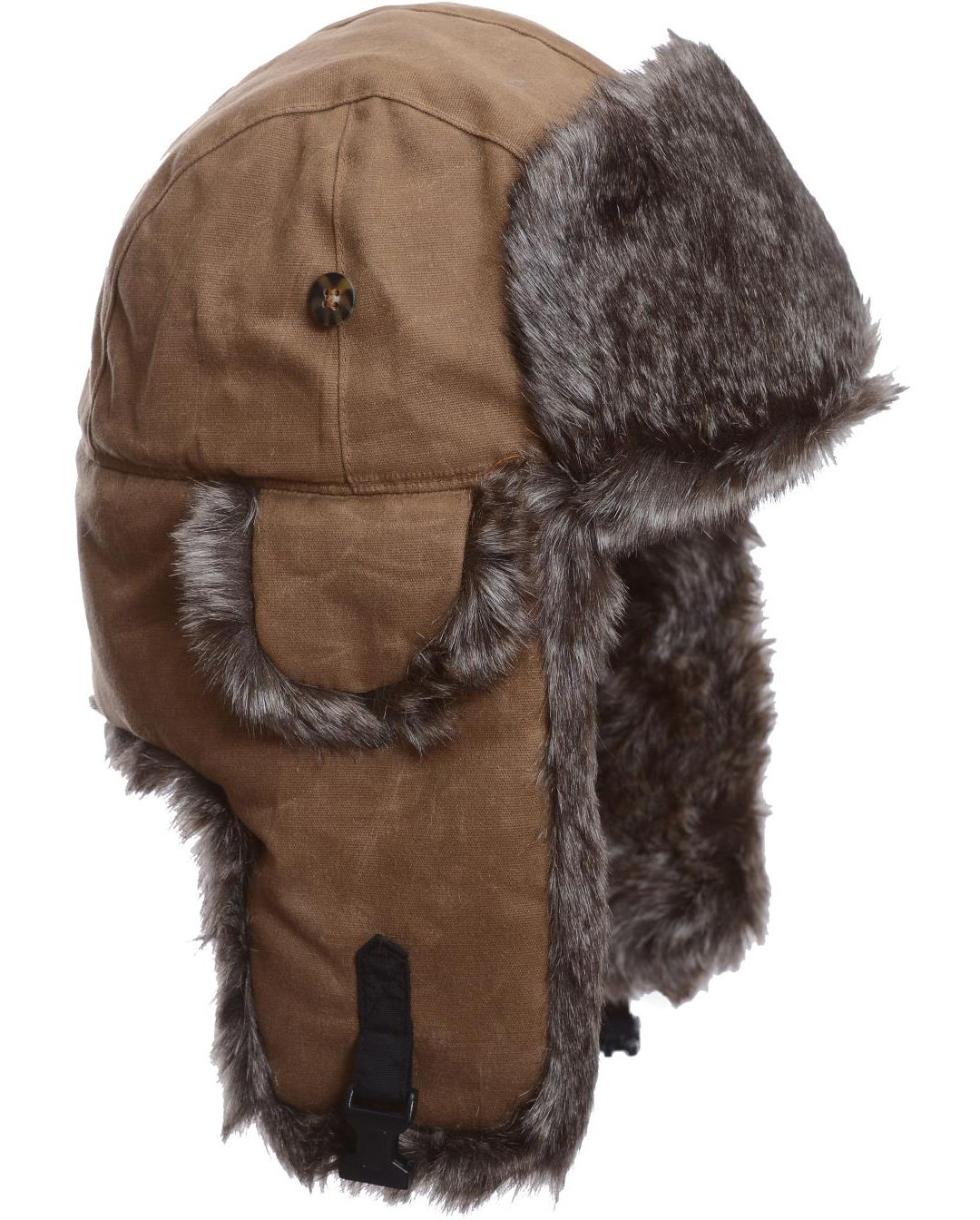 75c45e05 Mad Bomber Men's Khaki Waxed Cotton Faux Fur Bomber Hat | DICK'S ...