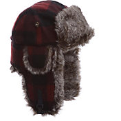 Product Image · Mad Bomber Men s Maroon Plaid Wool Faux Fur Bomber Hat 28ceaa663af8
