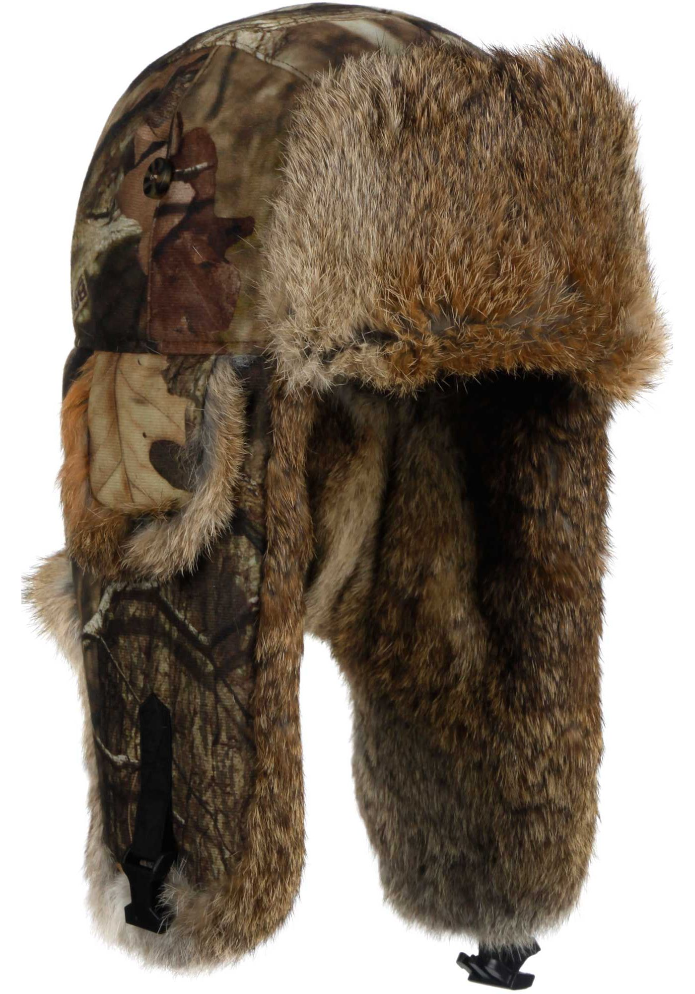 Mad Bomber Men's Mossy Oak Infinity Saddlecloth Trapper Hat