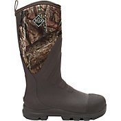 Muck Boots Men's Woody Grit Mossy Oak Country Steel Toe Rubber Hunting Boots