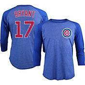 Majestic Threads Men's Chicago Cubs Kris Bryant Royal Raglan Three-Quarter Shirt