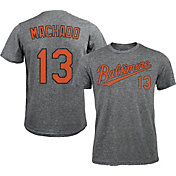 Majestic Threads Men's Baltimore Orioles Manny Machado #13 Grey Tri-Blend T-Shirt
