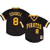 Mitchell & Ness Men's Replica Pittsburgh Pirates Willie Stargell Black Cooperstown Batting Practice Jersey