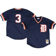 Mitchell & Ness Men's Replica Detroit Tigers Alan Trammell Navy Cooperstown Batting Practice Jersey