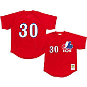 Mitchell & Ness Men's Replica Montreal Expos Tim Raines Red Cooperstown Batting Practice Jersey