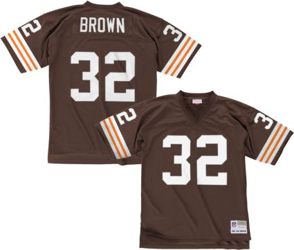 6eb3ac174 Mitchell   Ness Men s 1963 Home Game Jersey Cleveland Browns Jim Brown  32