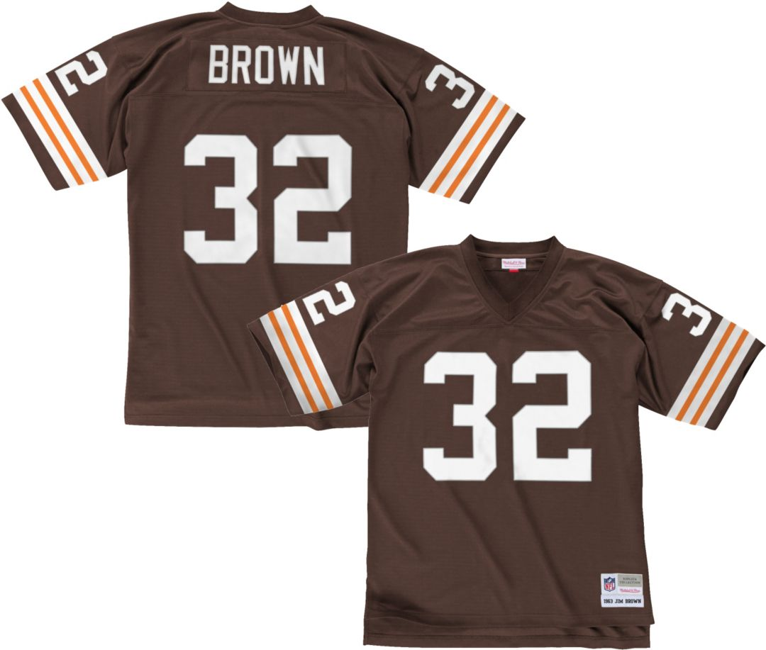 newest 10a92 34982 Mitchell & Ness Men's 1963 Home Game Jersey Cleveland Browns Jim Brown #32