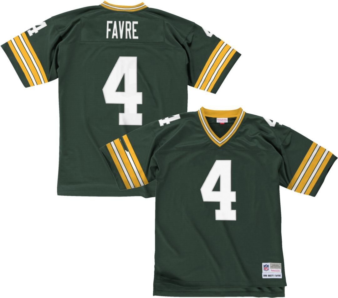 finest selection a1d04 6a1c1 Mitchell & Ness Men's 1996 Home Game Jersey Green Bay Packers Brett Favre #4