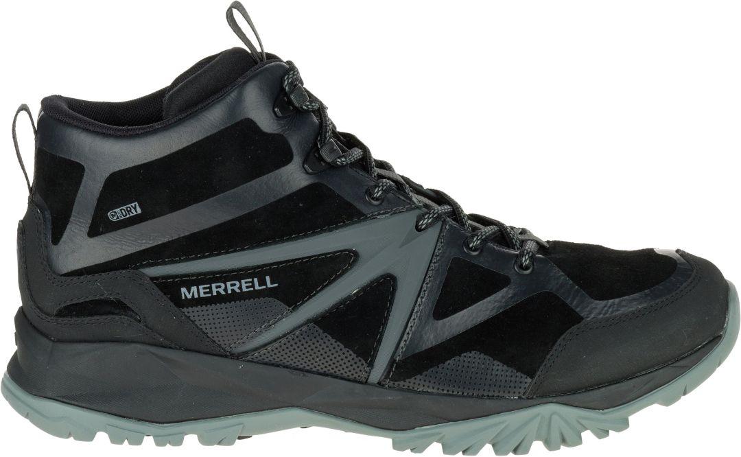 2877e235 Merrell Men's Capra Bolt Leather Mid Waterproof Hiking Boots