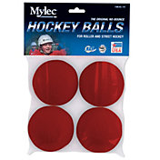 Mylec Red Hot Weather Hockey Ball 4-Pack