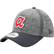 New Era Men's Atlanta Braves 39Thirty Clubhouse Grey/Navy Stretch Fit Hat
