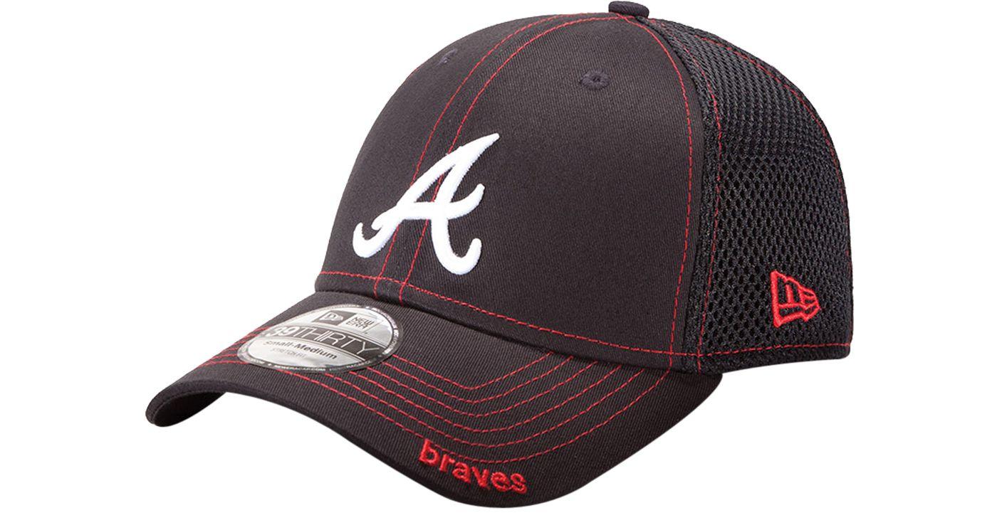 New Era Men's Atlanta Braves 39Thirty Neo Navy Stretch Fit Hat
