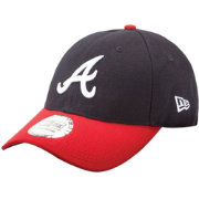 New Era Men's Atlanta Braves 9Forty Pinch Hitter Navy Adjustable Hat