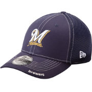 New Era Men's Milwaukee Brewers 39Thirty Neo Navy Stretch Fit Hat