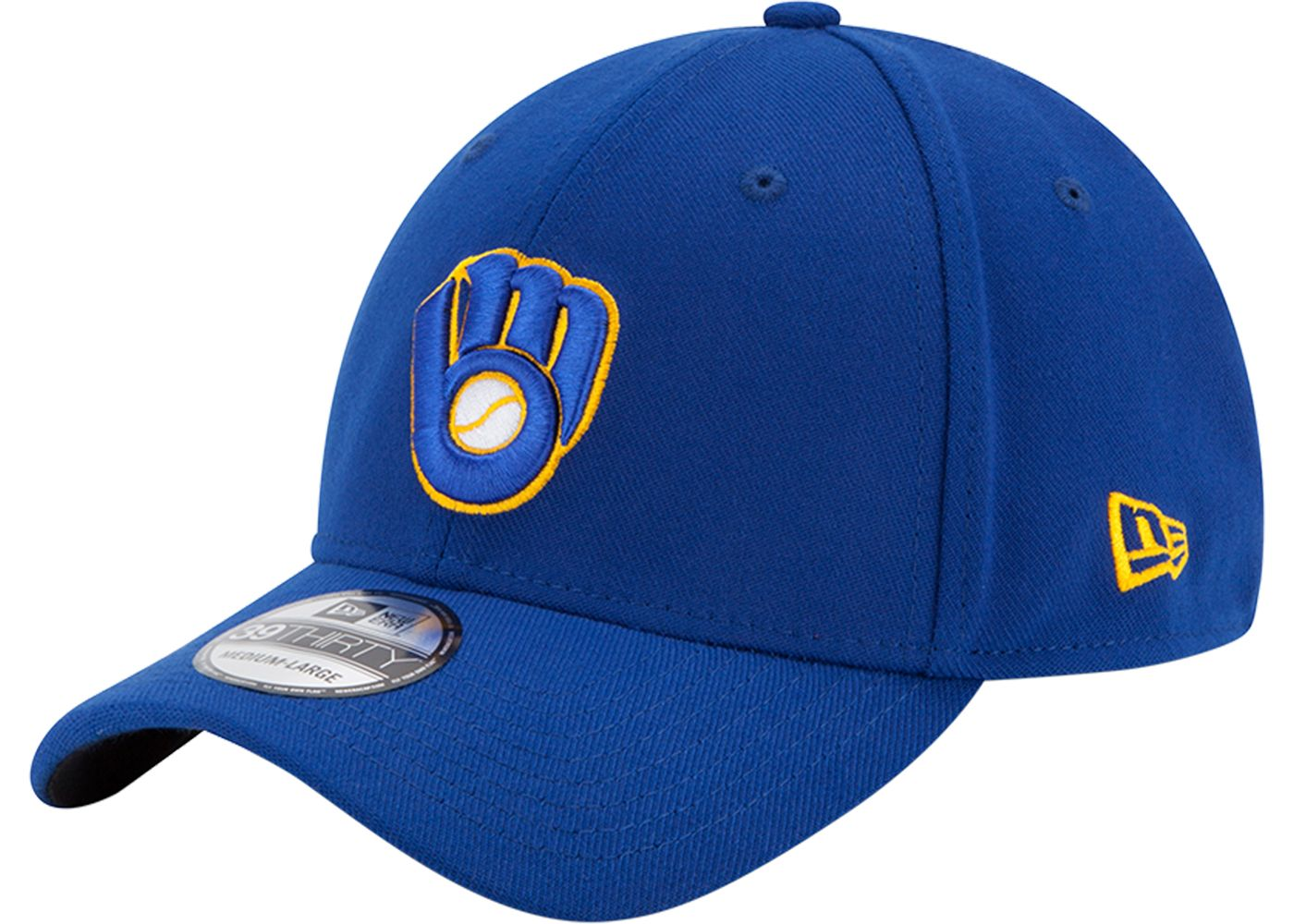 New Era Men's Milwaukee Brewers 39Thirty Classic Royal Stretch Fit Hat