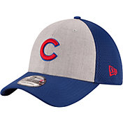 New Era Men's Chicago Cubs 39Thirty Heather Grey Neo Stretch Fit Hat