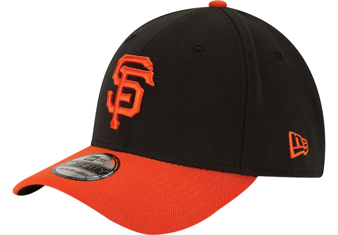 947caebc New Era Men's San Francisco Giants 39Thirty Alternate Classic Black Stretch  Fit Hat