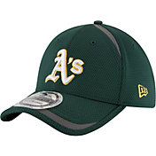 New Era Men's Oakland Athletics 39Thirty Green Reflectaline Stretch Fit Hat