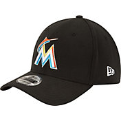 New Era Men's Miami Marlins 39Thirty Classic Black Stretch Fit Hat