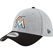 New Era Men's Miami Marlins 39Thirty Change Up Redux Grey Stretch Fit Hat