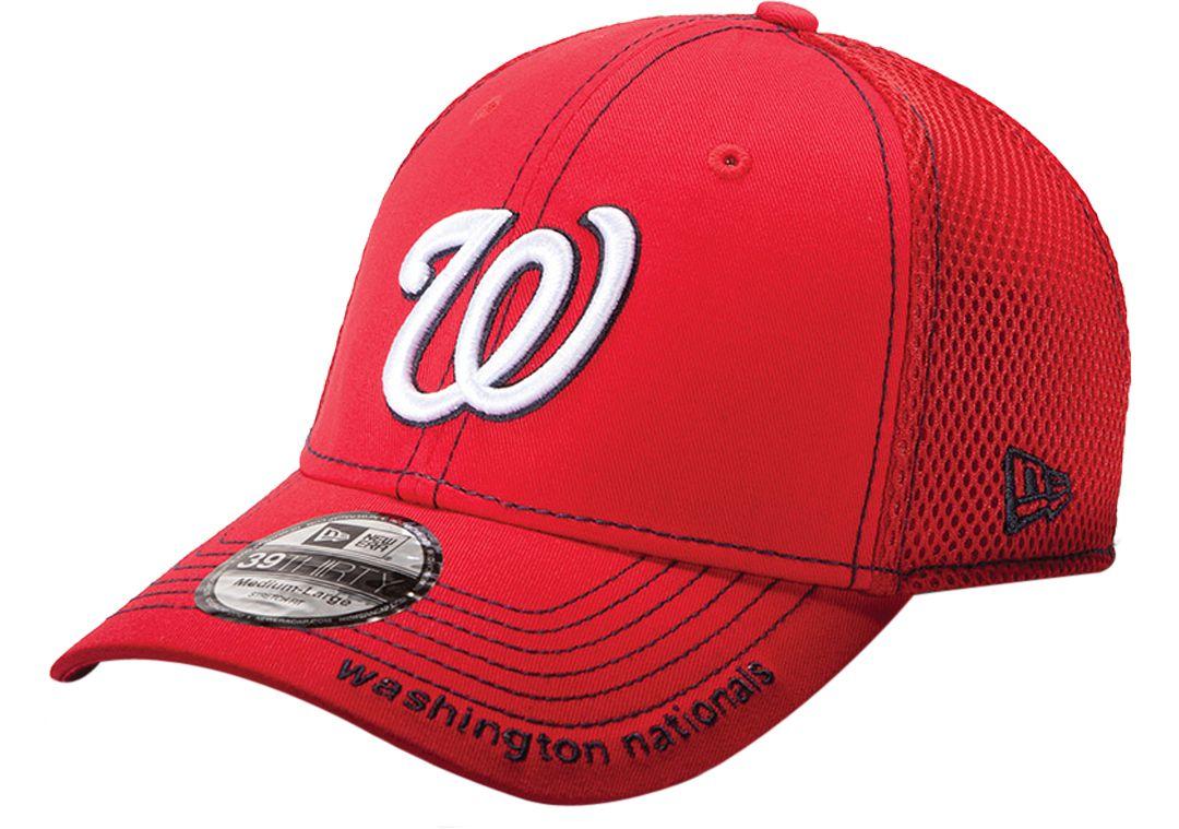 f9737df12 New Era Men's Washington Nationals 39Thirty Neo Red Stretch Fit Hat