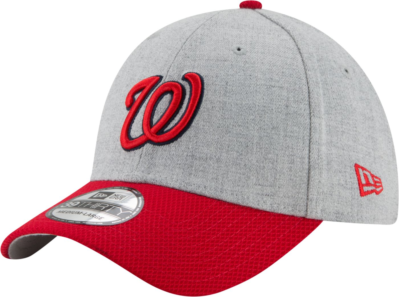 New Era Men's Washington Nationals 39Thirty Change Up Redux Grey Stretch Fit Hat