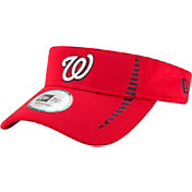 New Era Men's Washington Nationals Red Adjustable Speed Visor