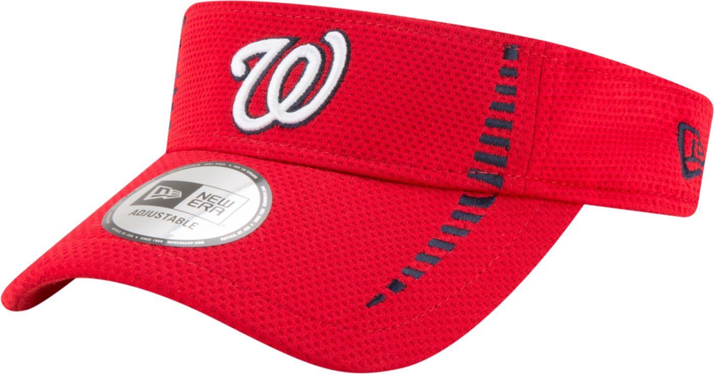 New Era Men's Washington Nationals Red Adjustable Speed Visor