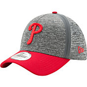 New Era Men's Philadelphia Phillies 39Thirty Clubhouse Grey/Red Stretch Fit Hat