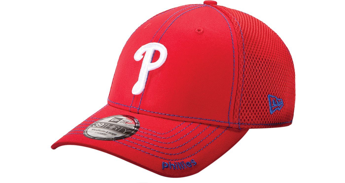 New Era Men's Philadelphia Phillies 39Thirty Neo Red Stretch Fit Hat