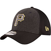 New Era Men's Pittsburgh Pirates 39Thirty Heather Grey Neo Stretch Fit Hat