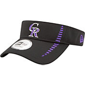 New Era Men's Colorado Rockies Black Adjustable Speed Visor