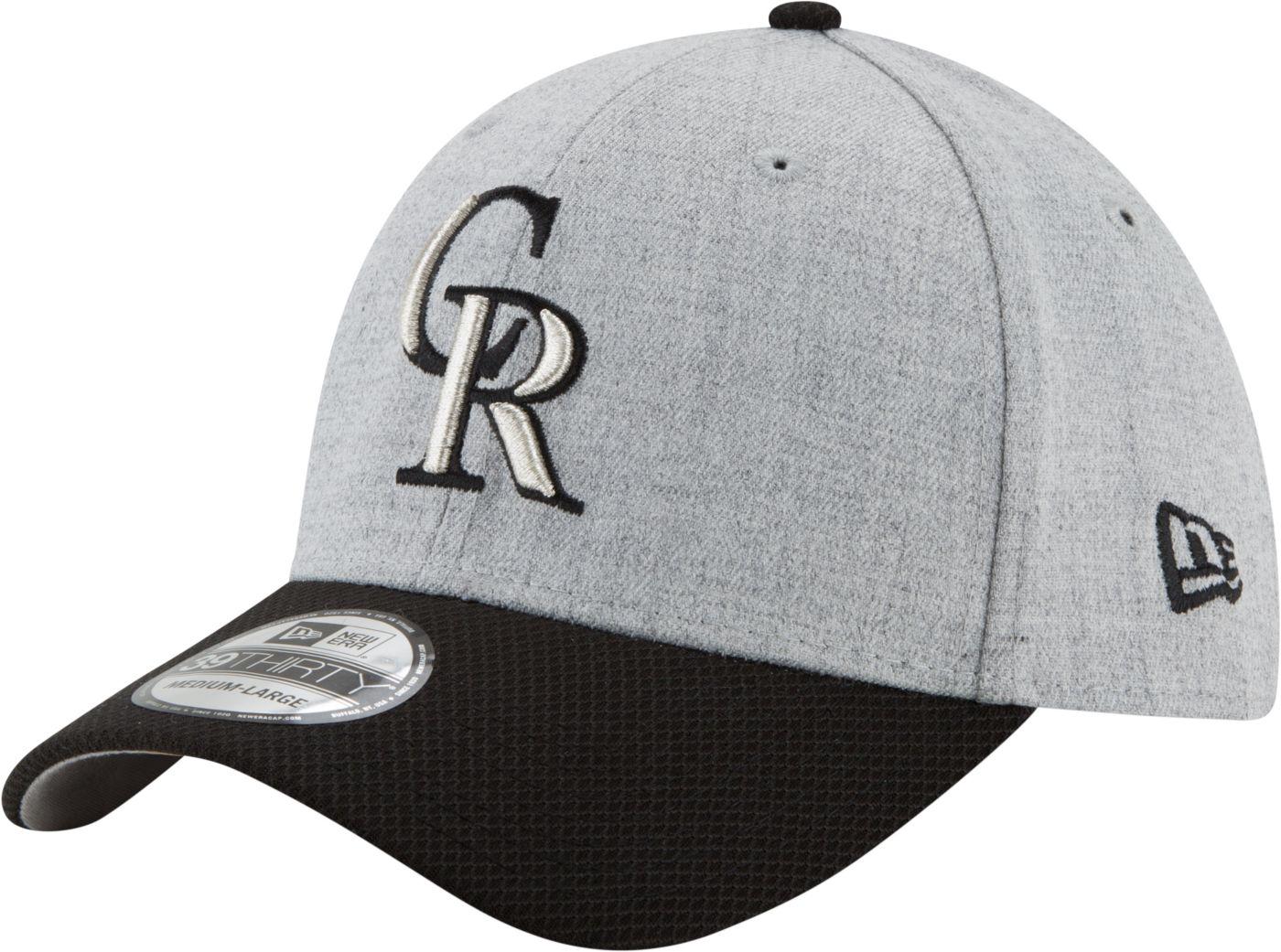 New Era Men's Colorado Rockies 39Thirty Change Up Redux Grey Stretch Fit Hat