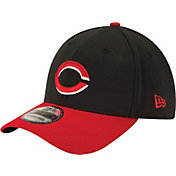 New Era Men's Cincinnati Reds 39Thirty Alternate Classic Black Stretch Fit Hat