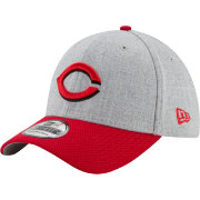 New Era Men's Cincinnati Reds 39Thirty Change Up Redux Grey Stretch Fit Hat
