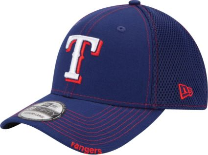 new concept 1f7c1 1a3b9 New Era Men s Texas Rangers 39Thirty Royal Neo Stretch Fit Hat