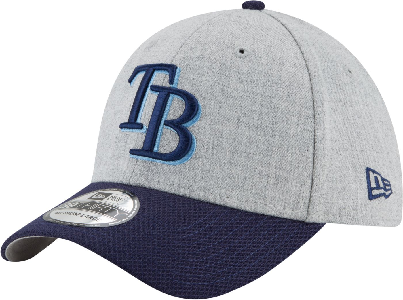 New Era Men's Tampa Bay Rays 39Thirty Change Up Redux Grey Stretch Fit Hat