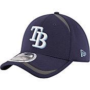 New Era Men's Tampa Bay Rays 39Thirty Navy Reflectaline Stretch Fit Hat