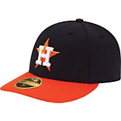 New Era Men's Houston Astros 59Fifty Road Navy Low Crown Authentic Hat
