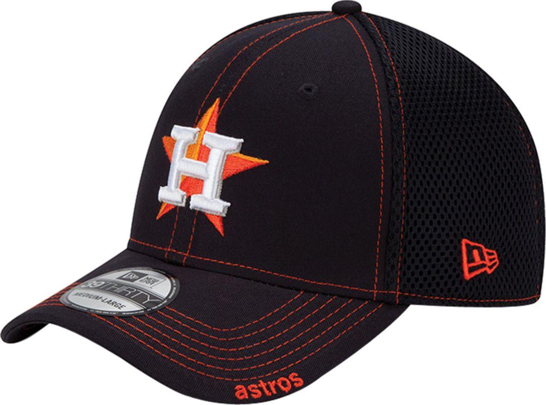de731146 New Era Men's Houston Astros 39Thirty Navy Neo Stretch Fit Hat