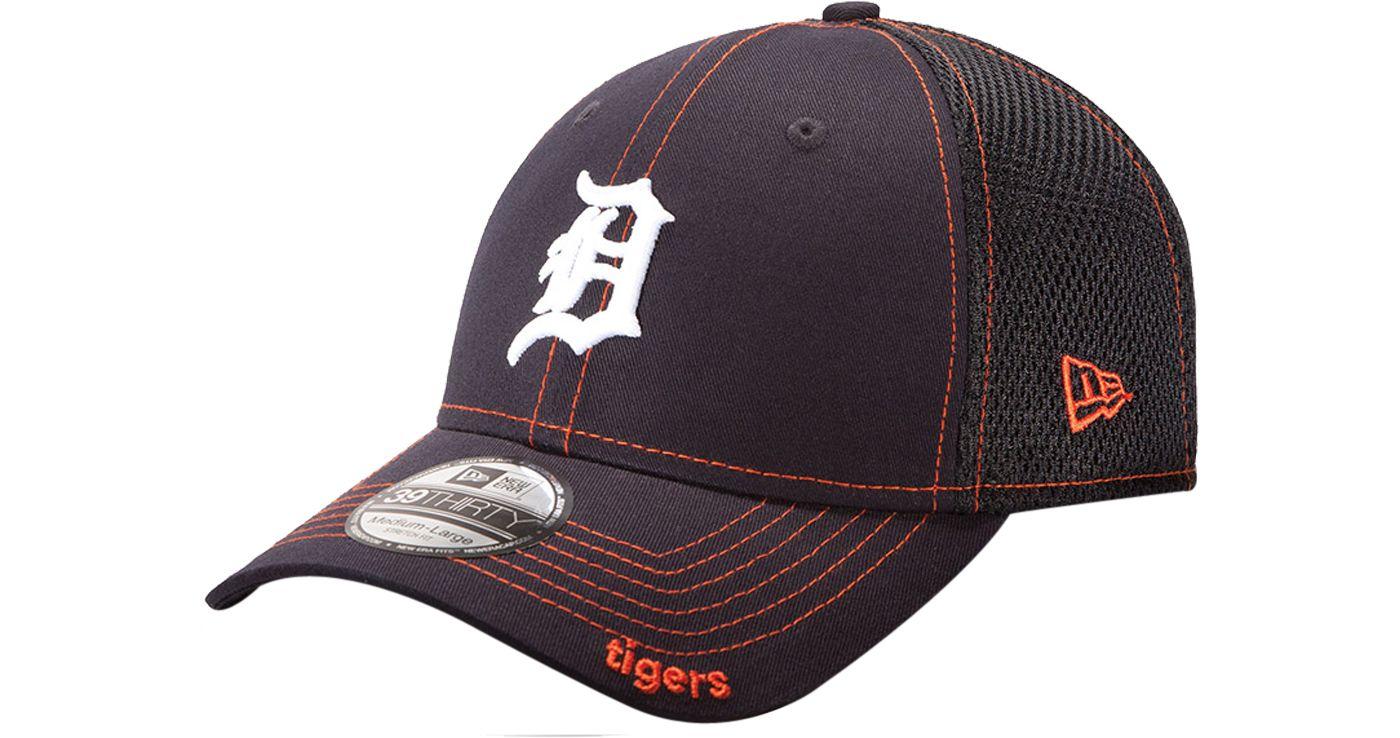 New Era Men's Detroit Tigers 39Thirty Neo Navy Stretch Fit Hat
