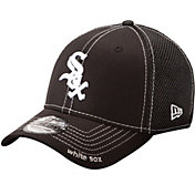 New Era Men's Chicago White Sox 39Thirty Neo Black Stretch Fit Hat