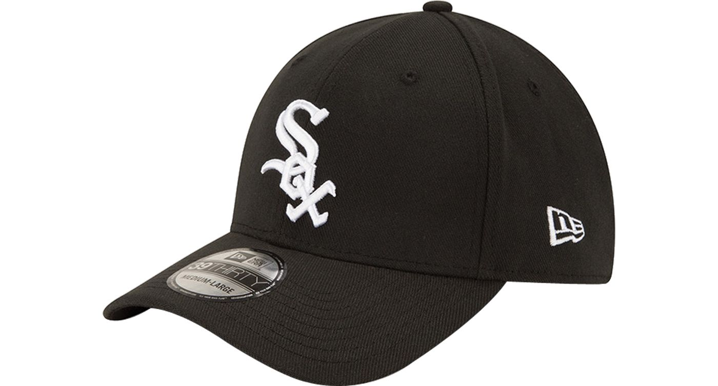 New Era Men's Chicago White Sox 39Thirty Classic Black Stretch Fit Hat