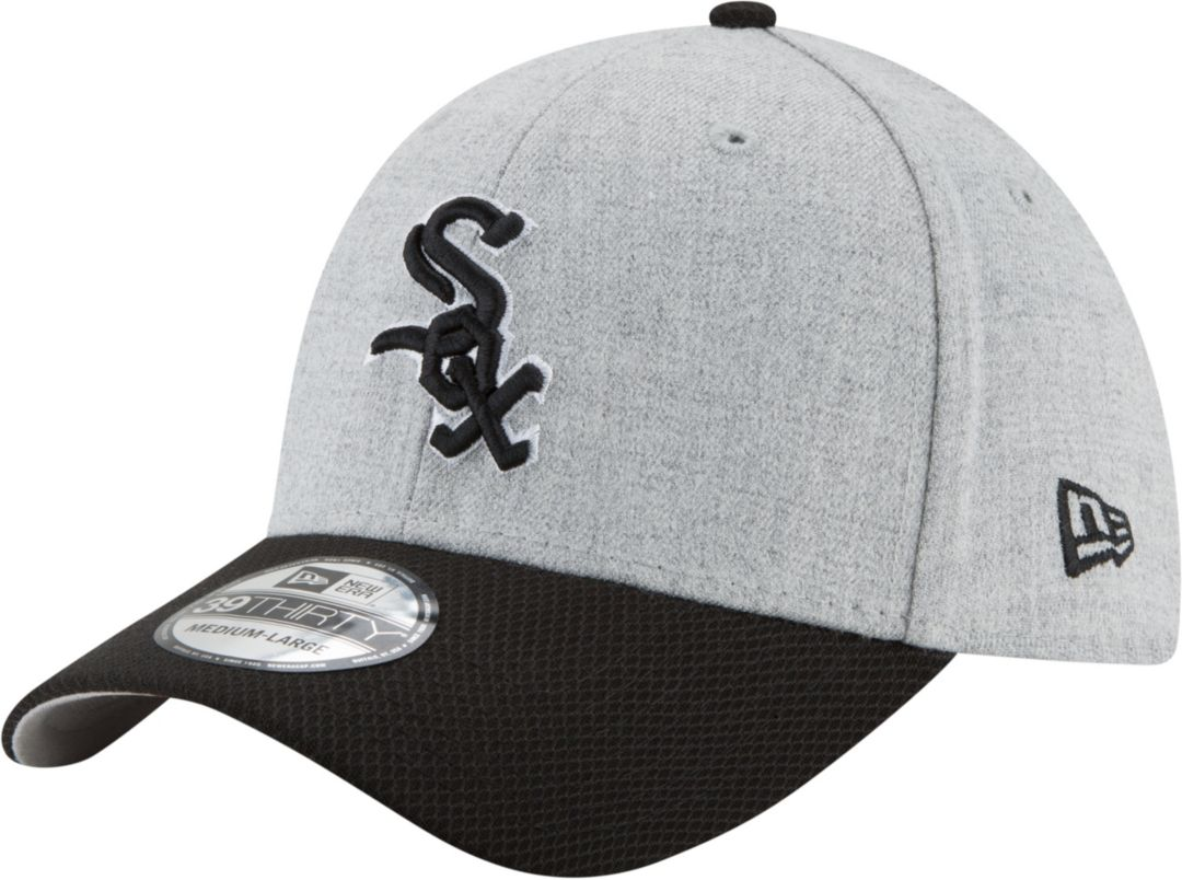 ba97c6857 New Era Men's Chicago White Sox 39Thirty Change Up Redux Grey Stretch Fit  Hat 1